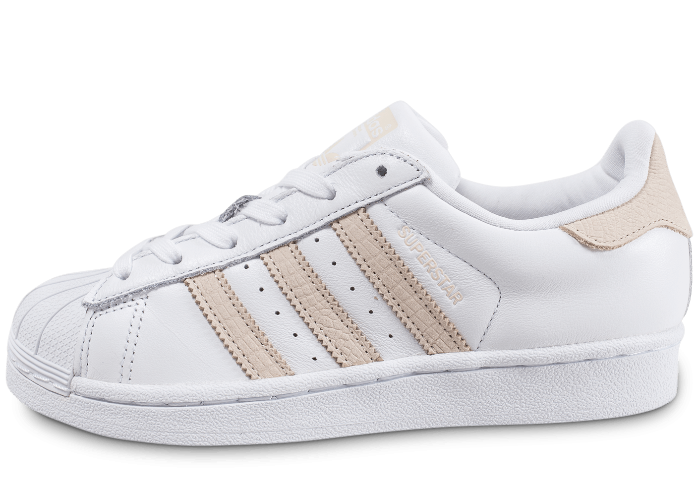 adidas superstar rose blanc