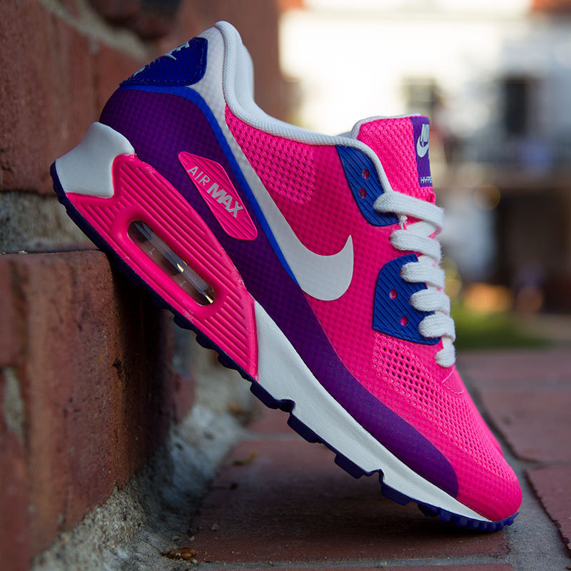 air max bleu et rose